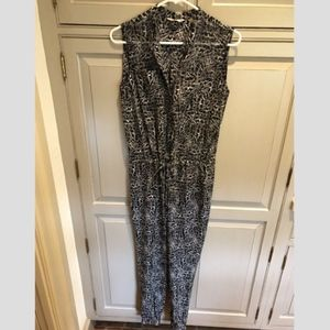 Rebecca Taylor Black and White Jumpsuit Size